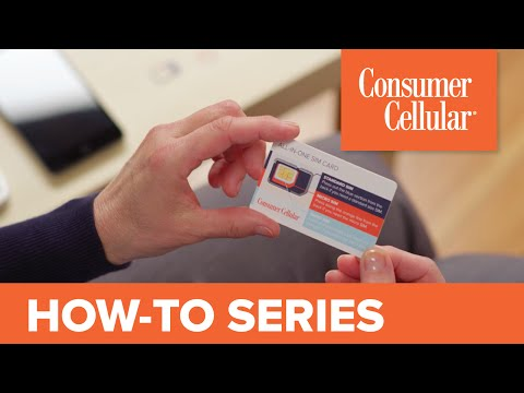 Consumer Cellular SIM Card -No Contract Cell Phone Service