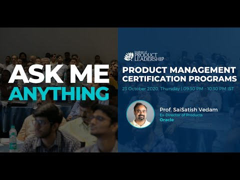 Ask Me Anything on Product Management Certifications | Prof ...