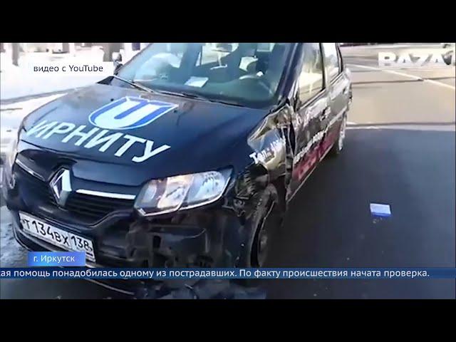 В Иркутске трамвай протаранил 10 автомобилей