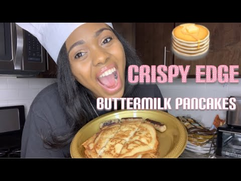 How to make Buttermilk Pancakes with the Crispy Edges  Easy recipe  Cooking With Tia