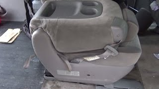 How to remove/install Toyota Sienna middle (child) seat model 2004-2010