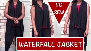 NO SEW WATERFALL JACKET - Beginner Sewing- PrettyTallLifeTV