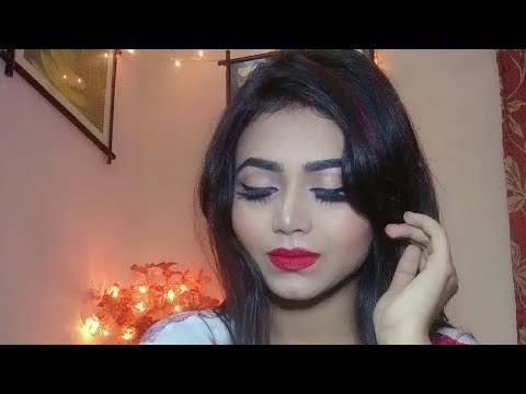 Makeup Tutorial || Cat Eye With Red Hot Lips Tutorial || Day Or Night Time Party Makeup Look
