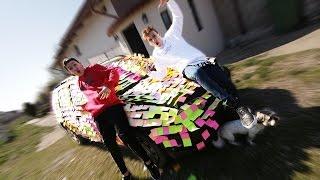 AM LIPIT 10,000 STICKERE PE MASINA TATALUI MEU !!! /w Cristi Munteanu