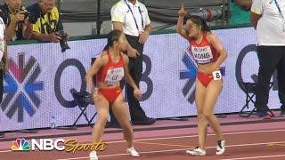 Worst baton pass ever? China's catastrophic 4x100 relay handoff | NBC Sports