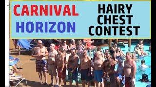 Carnival Horizon Hairy Chest Contest, Grandma Checks Out Cruise Director