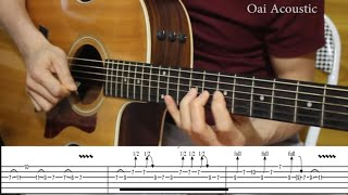 Tutorial  Hotel California Guitar Solo with Tab | Version Acoustician Juha Jarvinen