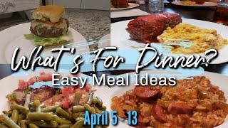 WHAT'S FOR DINNER? | APRIL 5-13 | EASY DINNER IDEAS | MANDY IN THE MAKING