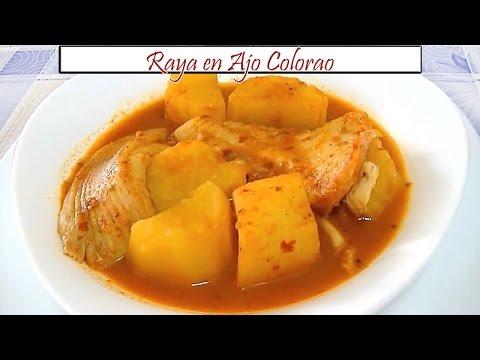 Raya en Ajo Colorao | Receta de Cocina en Familia