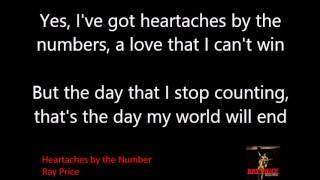 Heartaches by the Number - Ray Price Lyrics SingalongPal