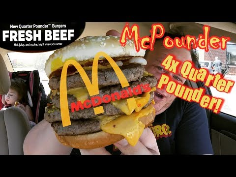 McDonald's ☆FRESH BEEF McPOUNDER!☆ 4X QUARTER-POUNDER w/CHEESE Food Review!!!