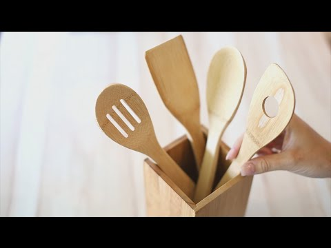 Kochlöffel Set aus Bambus