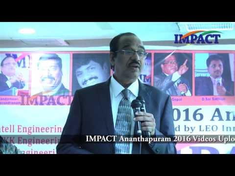 Professionalism |BV Pattabhiram | TELUGU IMPACT Anantapur 2016-Part2