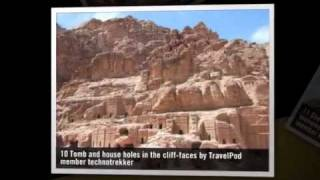 preview picture of video 'Petra majestic Technotrekker's photos around Petra, Jordan (courtyard cave houses of petra)'