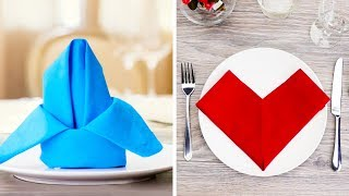 15 EASY AND BEAUTIFUL NAPKIN FOLD IDEAS TO DECORATE YOUR DINING TABLE