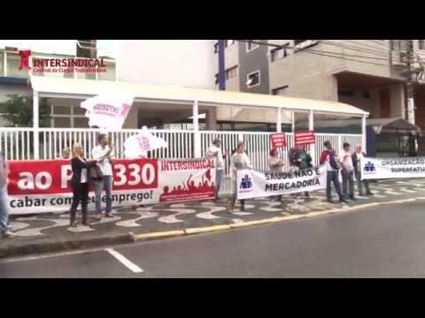 Intersindical participa de protesto contra a privatização da saúde pública