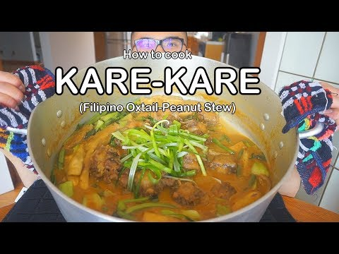 How to cook KARE- KARE (Filipino Oxtail- Peanut Stew)