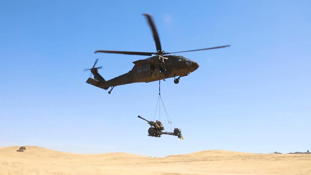 US Military News • U.S. Army UH-60 Black Hawk Helicopter Sling Load Training •  Cal USA Jun 15 2021
