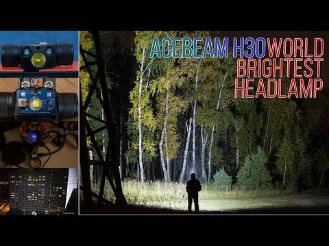 World brightest headlamp Acebeam H30 4000 lumens | full review with tests and pics