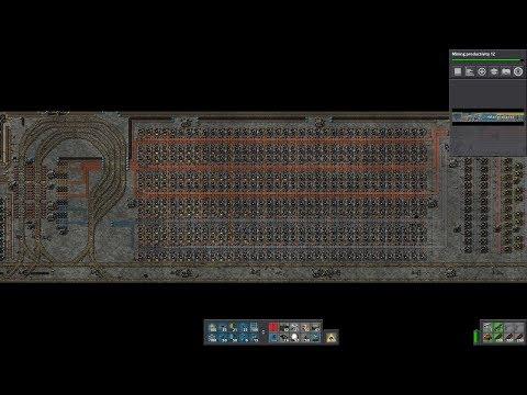 Factorio - Mid-Game Furnace Layout (Live Build) - смотреть