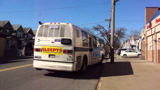 preview picture of video 'MTA New York City Bus: RTS NovaBus #5043 Whiteback B2 @ Avenue S & Flatbush Avenue!'