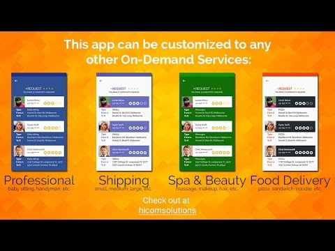 Uber for On-demand tasks Android & iOS App Template - The Best App HiCom Solutions