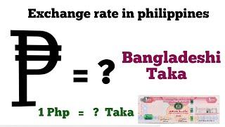 PHP to Bangladeshi Taka   philippines peso to Bangladeshi Taka exchange rate Today   php to bdt