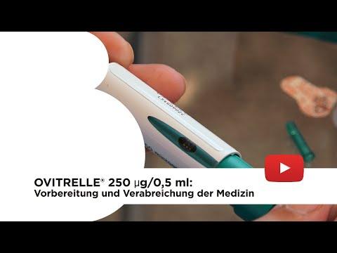 Ovitrelle® 250 µg/0,5 ml: Vorbereitung und Verabreichung der Medizin