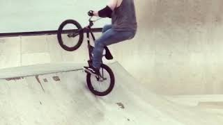 Old man on a bike learning BMX things