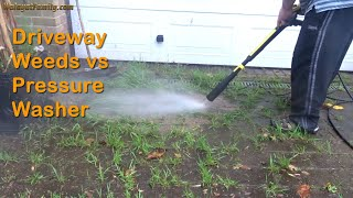 Killing Driveway Weeds FAST with a Pressure Washer - Saving Block Paving from LOTS of WEEDs