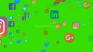 green screen social media icons | social media video background | social media icons animation video