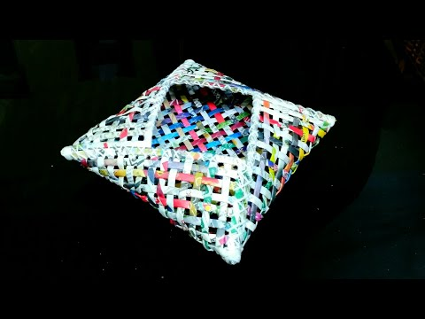 How to make a newspaper basket (UNIQUE)