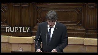 LIVE: Puigdemont speaks in Catalan parliament