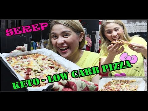 HOW TO MAKE KETO - LOW CARB CHICKEN CRUST PIZZA... cravings satisfied..