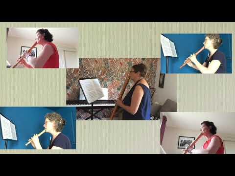"""Vidéo - """"Almand"""" de Dowland - classe de flûte à bec"""
