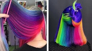 Fabulous Hair Color Transformation Trending 2019 | Best Hairstyle Ideas For Halloween Party