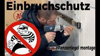Abus Panzerriegel PR2600 Montageanleitung - Einbruchschutz