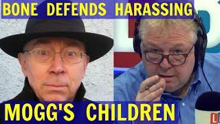 Ian BONE Defends HARASSING Jacob Rees-Mogg's CHIDREN - LBC