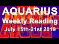 "AQUARIUS WEEKLY TAROT  ""A WISH COMING TRUE! TRUST YOUR INSTINCTS""  July 15th-21st 2019"