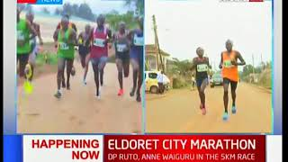 DP William Ruto and Governor Anne Waiguru in the 5km race at Eldoret city marathon