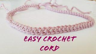 CROCHET CORD / BRACELET / HEADBAND / EASY AND FAST