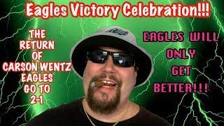 Eagles Victory Celebration!! Carson Wentz Returns!! Trading For A Receiver!! Eagles Will Make A Run! | Kholo.pk