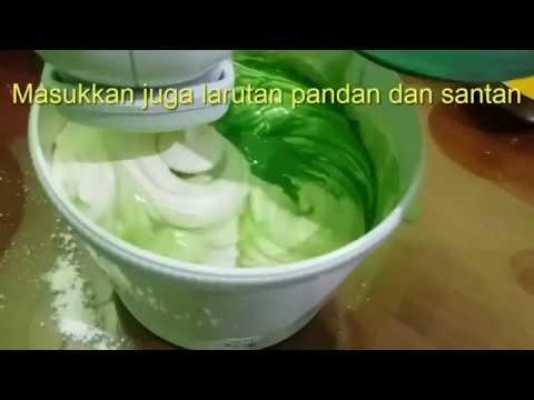 Video Resep membuat kue bolu pandan asli