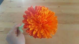 Цветы из бумаги своими руками. Как сделать объёмный бумажный цветок