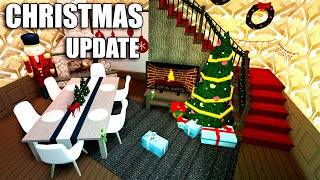 BLOXBURG CHRISTMAS UPDATE!!! PRIVATE SERVERS AND SLEDS!! • Roblox • 0.8.2.