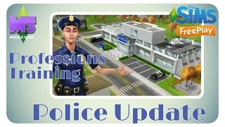 The Sims Freeplay - Police Update| Profession Training Quest
