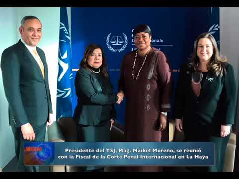 Presidente del TSJ se reunió con la Fiscal de la Corte Penal Internacional