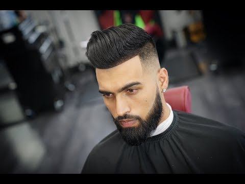 MENS POMPADOUR | MID FADE | HAIRCUT TUTORIAL