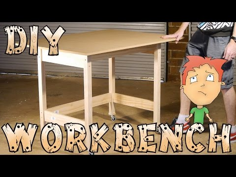 Download DIY workbench on wheels for hobbies/craft - How-To