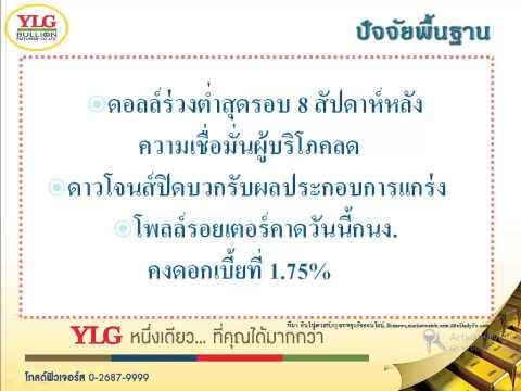 YLG บทวิเคราะห์ราคาทองคำประจำวัน 29-04-15